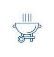 barbecue grill line icon concept barbecue grill vector image vector image