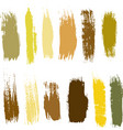 big collection black paint brush strokes vector image