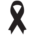 Black Ribbon Icon vector image vector image