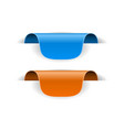 blue and orange tag sticker 3d labels with vector image vector image