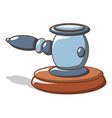 blue hammer of judge icon cartoon style vector image