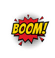boom comic text bubble isolated color icon vector image vector image