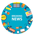 Breaking news emblem vector image vector image