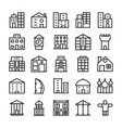 buildings landmarks line icons 2 vector image
