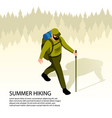 camping isometric vector image vector image