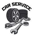 car service signboard vector image vector image