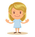 cartoon cute girl stands in a confident pose vector image vector image