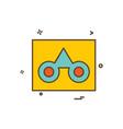 casette icon design vector image vector image