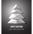 Christmas tree made with geometrical abstract vector image
