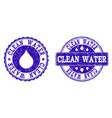 clean water grunge stamp seals vector image vector image