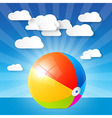 Colorful Beach Ball in the Water - Ocean vector image vector image
