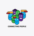 Connecting people symbol