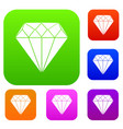 diamond set collection vector image