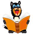 dog with book vector image vector image