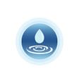 drop water icon vector image