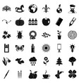 eco decoration icons set simple style vector image vector image