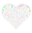 ellipse bubble fireworks heart vector image vector image