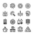 firework and manufacturing icon vector image vector image