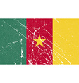 Flag of Cameroon with old texture vector image
