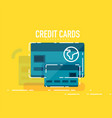 flat design credit card concept vector image