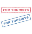 for tourists textile stamps vector image vector image