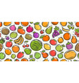 fruit seamless background farmers market vector image vector image