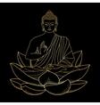 Gold Buddha sitting on Lotus vector image vector image