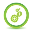 Green mechanism icon vector image vector image