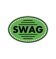 green sticker swag vector image