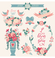 Hand drawn wedding collection vector image vector image