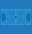 handball field vector image