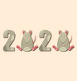 happy chinese new year 2020 rat zodiac funny vector image vector image