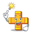 have an idea plus sign isolated on the mascot vector image vector image