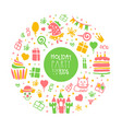 holiday party for kids banner template birthday vector image vector image