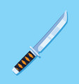 hunting knife icon design flat style vector image
