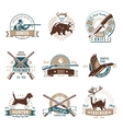 Hunting Retro Emblem Set vector image