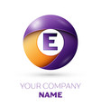 letter e logo symbol in the colorful circle vector image vector image