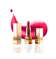 lipstick cosmetic makeup mockup design 3d vector image