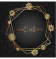 luxury black gradient background with gold vector image vector image