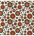 Mandala style flowers pattern vector image vector image