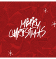 Merry Christmas Lettering Stack of firewoods vector image vector image