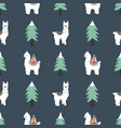 merry christmas print seamless pattern with cute vector image