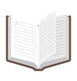 open book icon textbook for library symbol vector image vector image