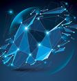 Perspective digital technology shattered shape vector image vector image