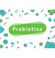 probiotics bacteria logo vector image vector image