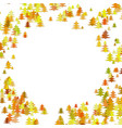 random pine tree forest pattern background vector image vector image