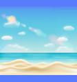real beautiful bright sea sand beach vector image vector image