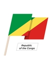 Republic of the Congo Ribbon Waving Flag Isolated vector image vector image