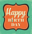 Retro birthday greeting card vector image vector image