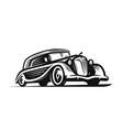 retro car logo vintage vehicle transport symbol vector image